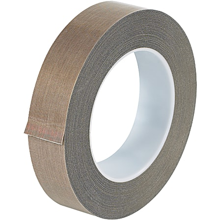 """Office Depot® Brand PTFE Glass Cloth Tape, 5 Mils, 3"""" Core, 1"""" x 54', Brown"""