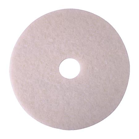 """Niagara™ 4100N Polishing Pads, 20"""", White, Case Of 5"""