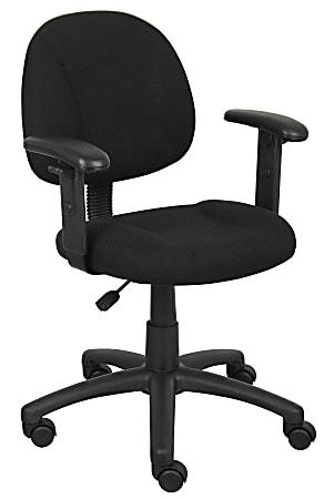 Boss Posture Mid-Back Task Chair, Black