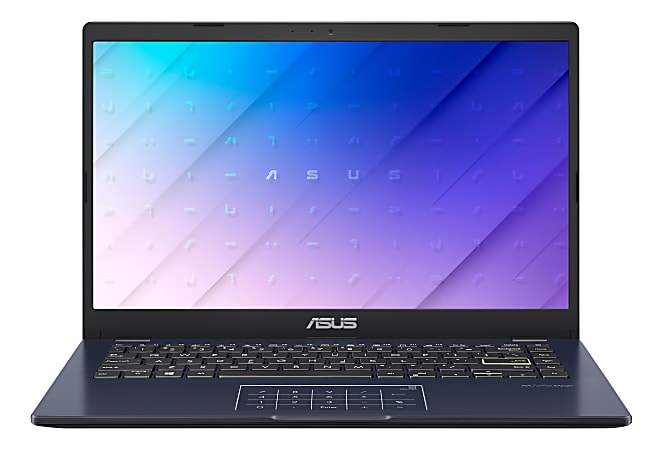 "ASUS E410 Laptop, 14"" Screen Intel Pentium Silver, 4GB Memory, 128GB eMMC, Windows 10 in S Mode + Office 365, E410MA-OH24"