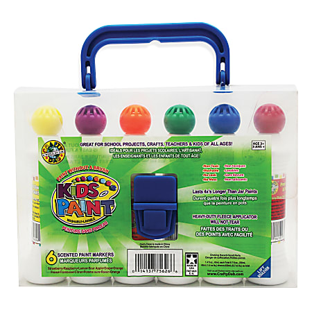 ALEX Toys Crafty Dab Scented Paint, 1.45 Oz, Assorted Colors, 6 Bottles Per Pack, Bundle Of 2 Packs