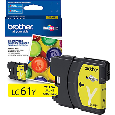 Brother LC61Y Original Ink Cartridge - Inkjet - 325 Pages - Yellow - 1 Each