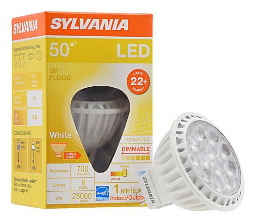 Sylvania LEDvance MR16 Dimmable 700 Lumens LED Light Bulbs, 9 Watt, 3000 Kelvin/Warm White, Case Of 6 Bulbs