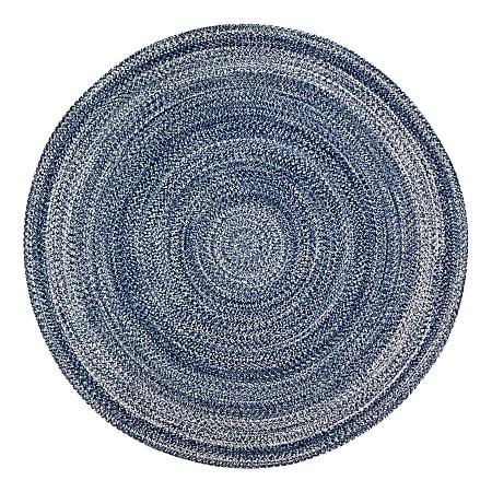 Anji Mountain Epona Braided Round Rug, 8', Blue