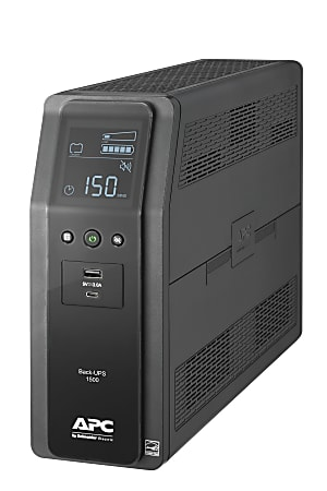 APC® Back-UPS Pro 10-Outlet Tower Uninterruptible Power Supply, 1,500VA/900 Watts, BN1500M2