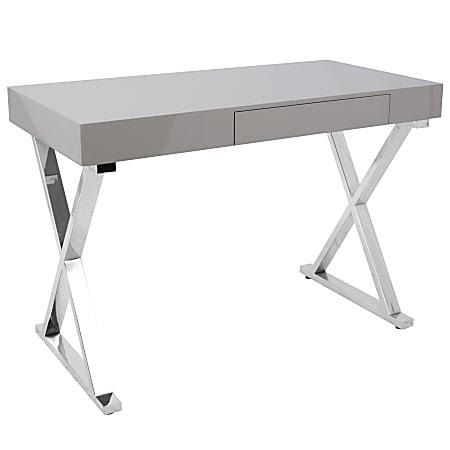 Lumisource Luster Computer Desk, Gray