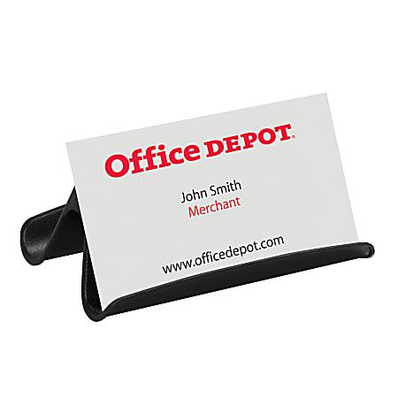 Office Depot® Brand Business Card Holder, Black