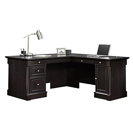 Sauder® Palladia Collection L-Shaped Desk, Wind Oak