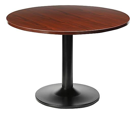 "Lorell® Essentials Round Table Top, 48""D, Mahogany"