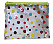"""Inkology Transparent Dot Binder Pencil Pouches, 7-1/2"""" x 9-1/2"""", Assorted Colors, Pack Of 12 Pouches"""