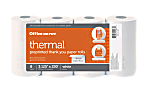 """Office Depot® Thermal Preprinted """"Thank You"""" Paper Rolls, 3 1/8"""" x 230', White, Pack Of 8"""