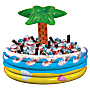 """Amscan Summer Luau Tropical Palm Tree Inflatable Cooler, 14"""" x 29-1/2"""", Multicolor"""