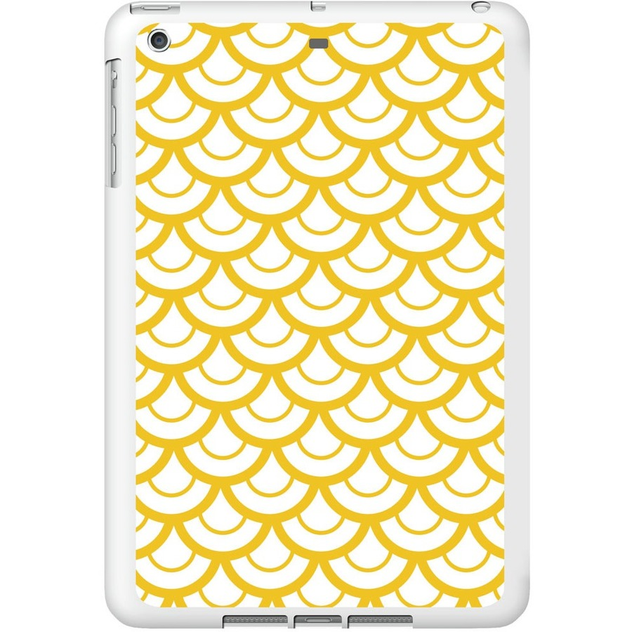 OTM iPad Air White Glossy Case Elm Bold Collection, Yellow - For Apple iPad Air Tablet - Bold - White, Yellow - Glossy