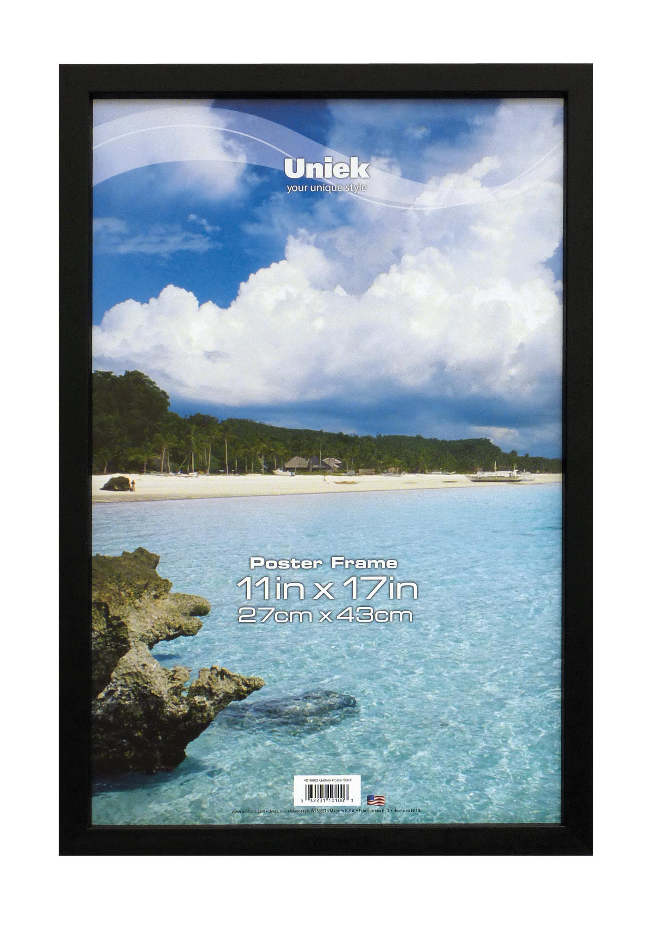 "Uniek Gallery Poster Frame, 11"" x 17"", Black"