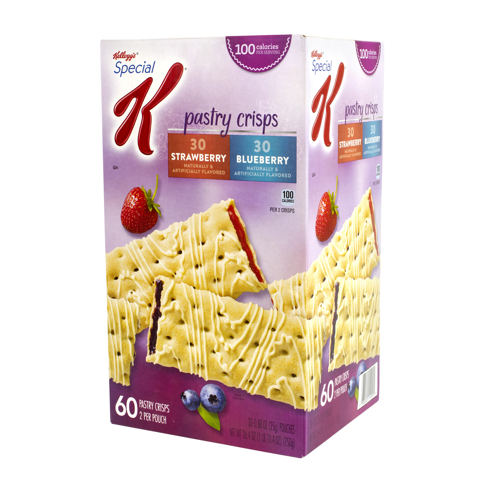 SPECIAL K Pastry Crisps Blueberry and Strawberry, 72 Count