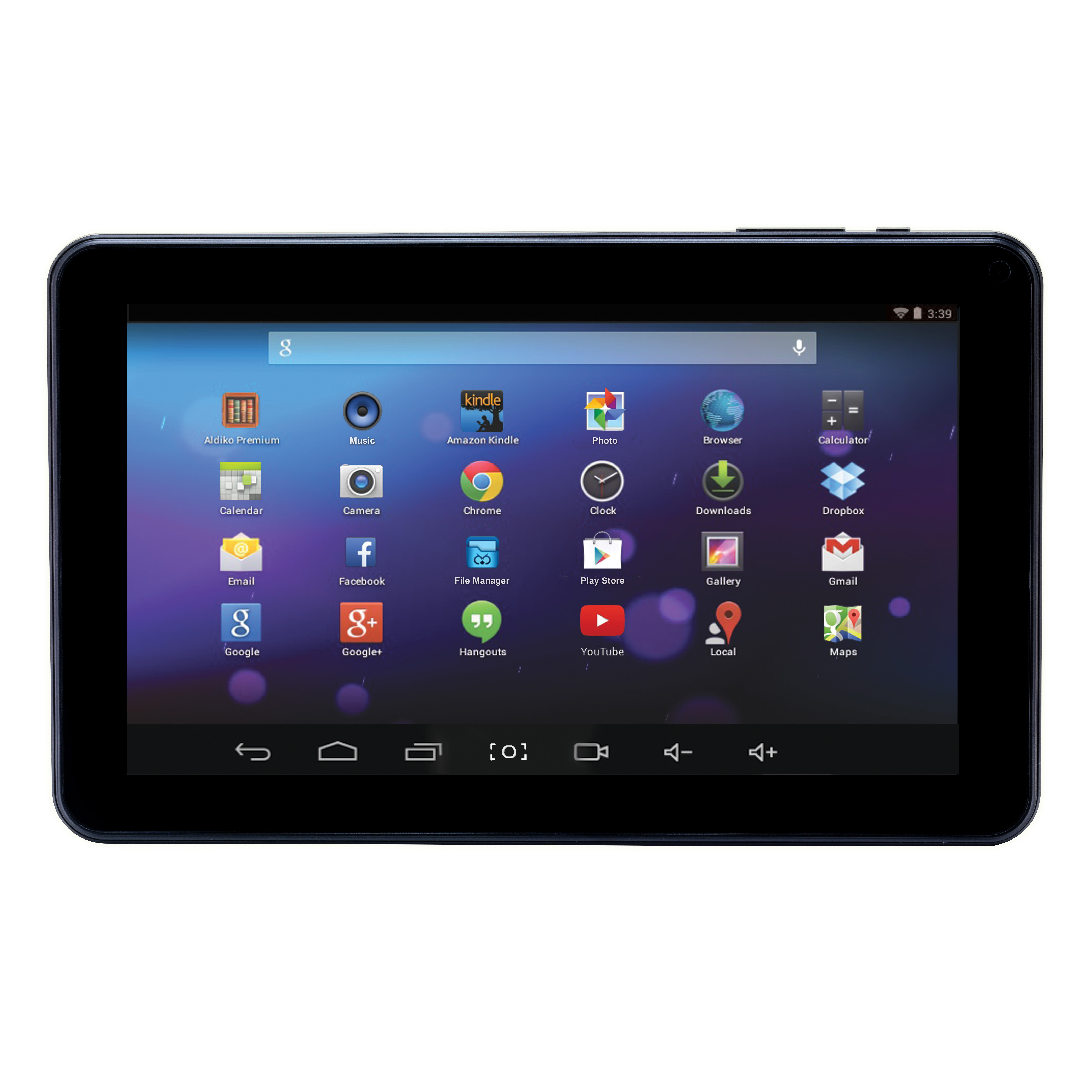 """Craig® Dual Core HD Wi-Fi Tablet, 9"""" Screen, 1GB Memory, 16GB Storage, Android 4.4 KitKat"""