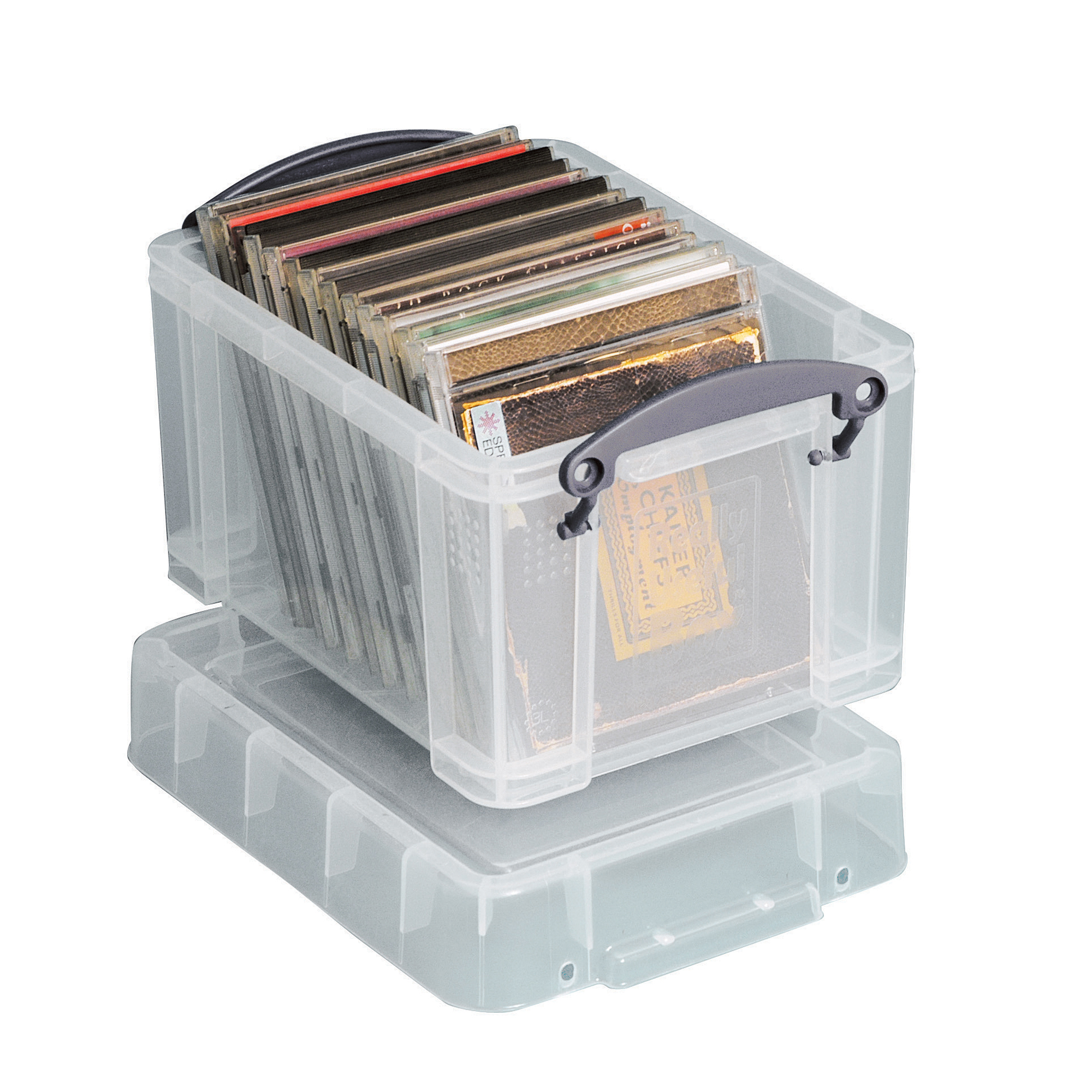 """Really Useful Box® Plastic Storage Box, 3 Liters, 7 1/6"""" x 9 5/8"""" x 6 1/4"""", Assorted Colors (No Color Choice)"""