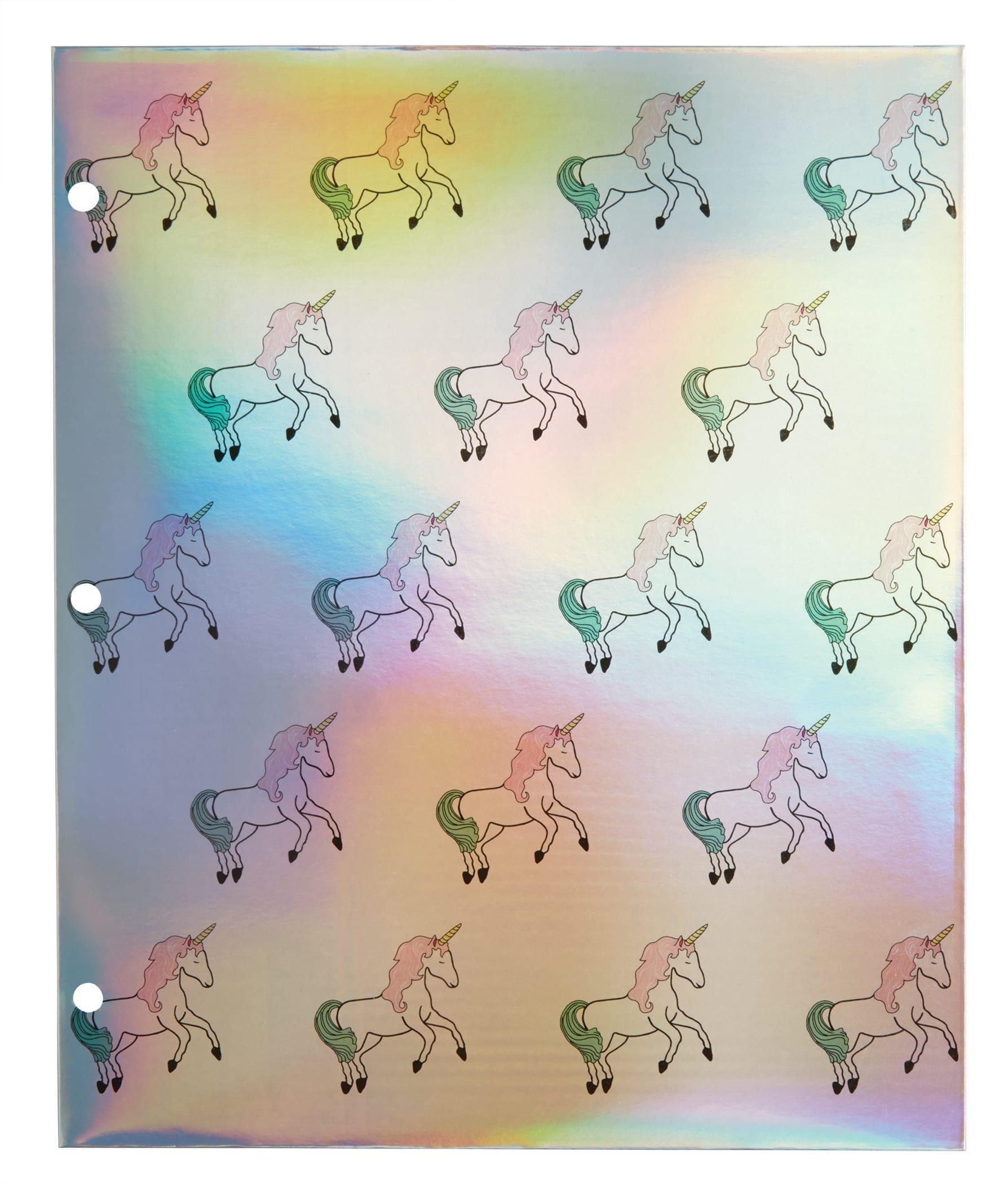 "Office Depot® Brand Fashion 2-Pocket Paper Folder, 11 3/4"" x 9 5/8"", Unicorns"