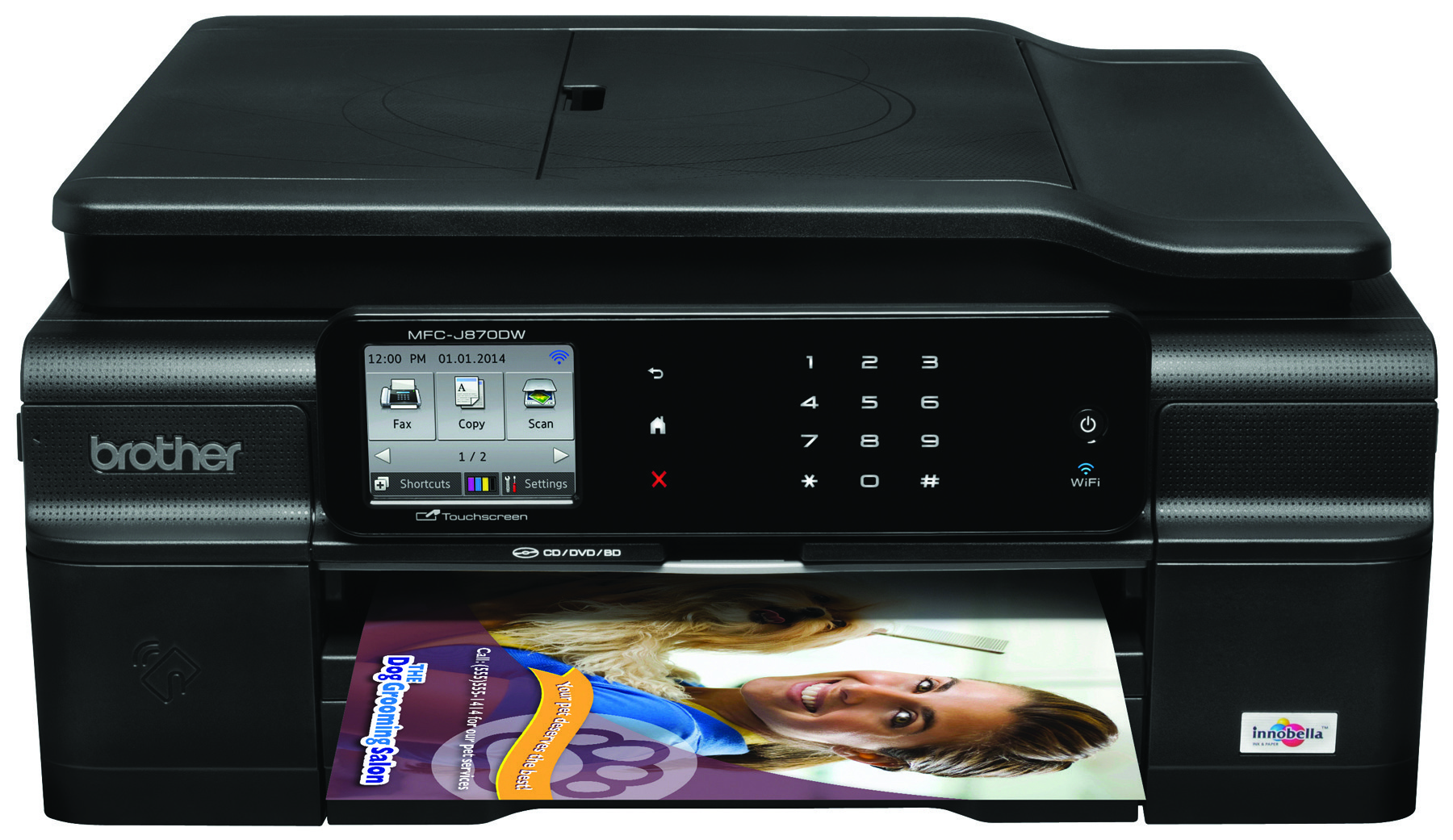 Brother® MFC-J870DW Wireless InkJet All-In-One Color Printer