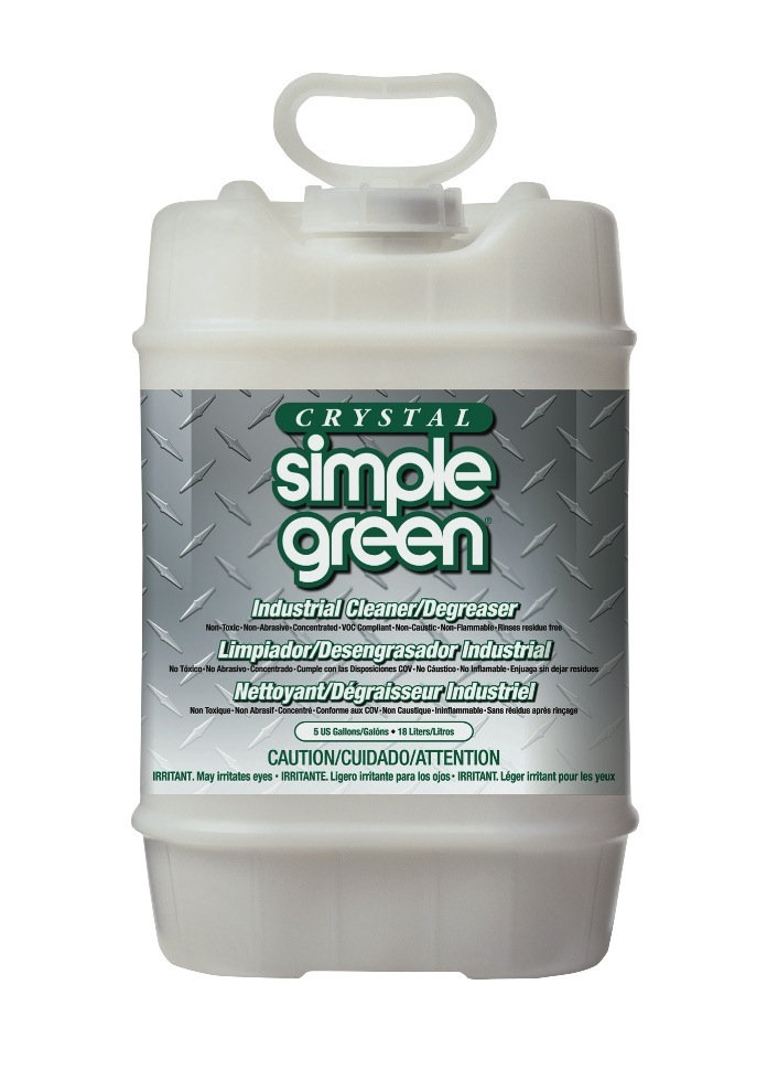 Simple Green Crystal Industrial Cleaner/Degreaser, 640 Oz, Clear