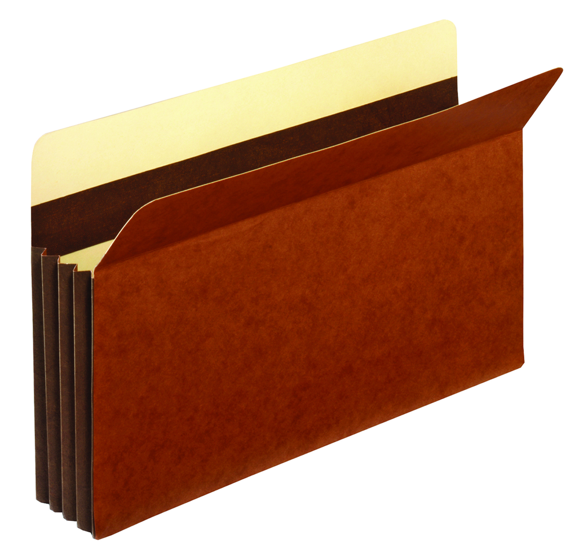 "Office Depot® Brand Premium Redrope File Pockets, 3 1/2"" Expansion, Legal Size, Brown, Pack Of 10"