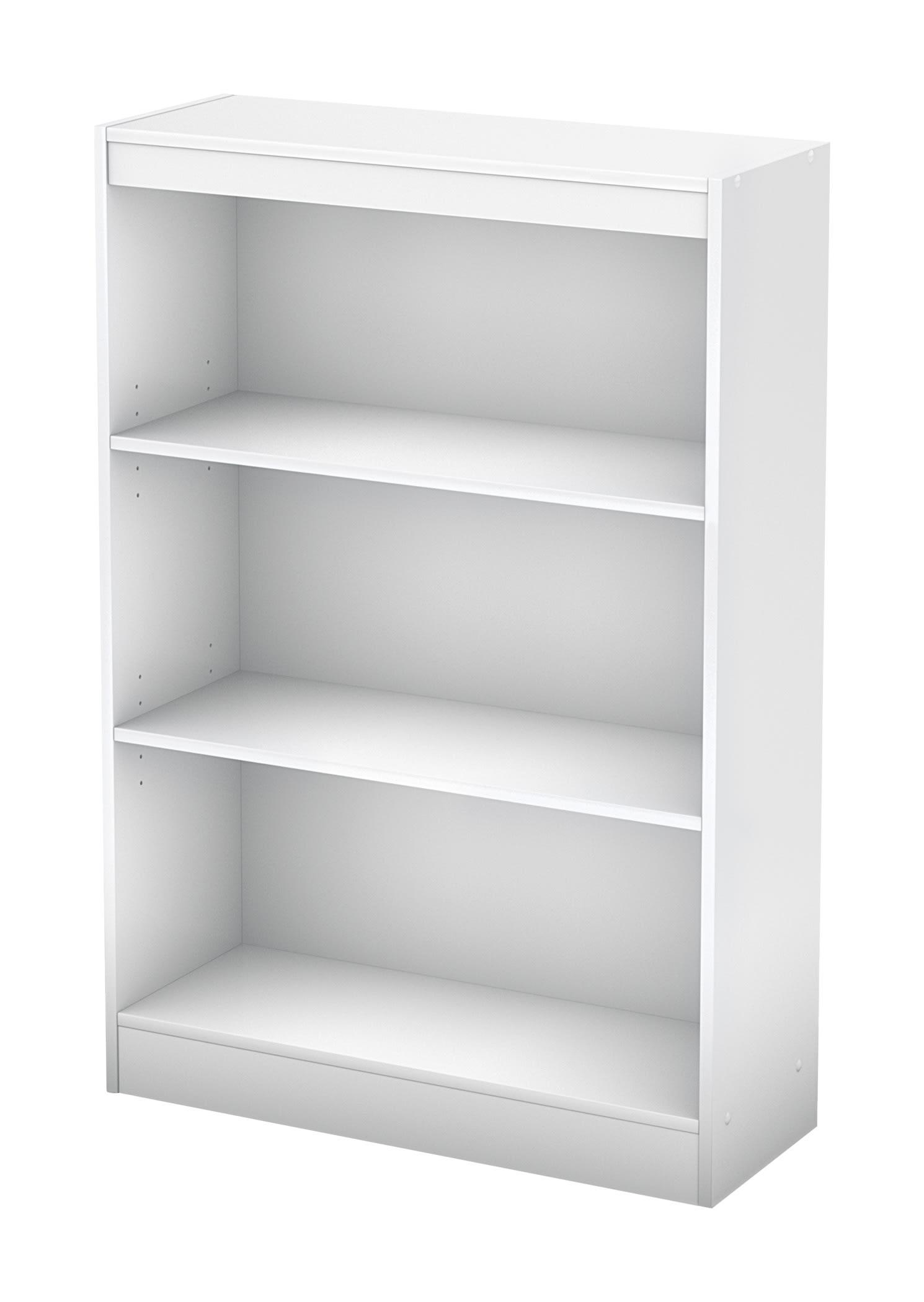 South Shore Axess 3-Shelf Bookcase, Pure White