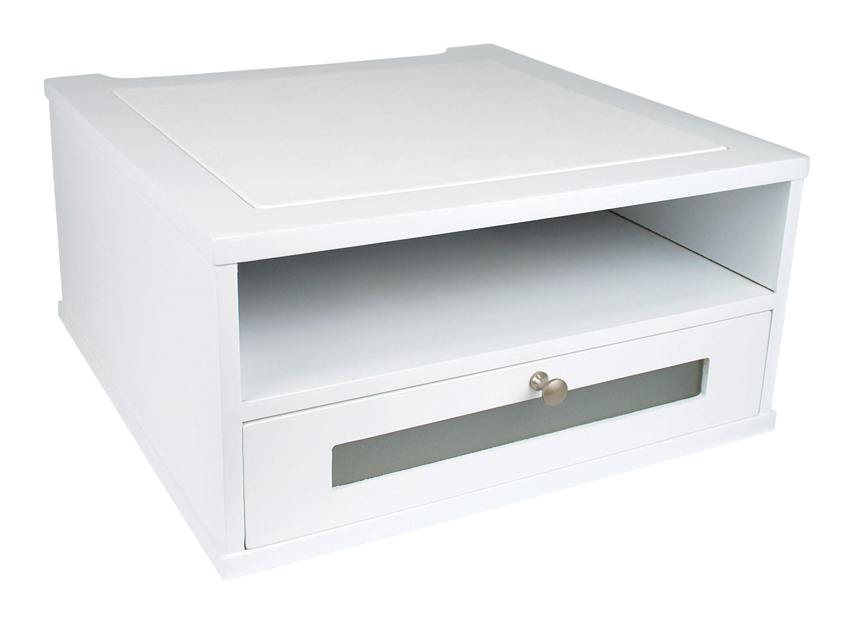 "Victor® Monitor Riser, 6 1/2""H x 13""W x 13""D, Pure White"
