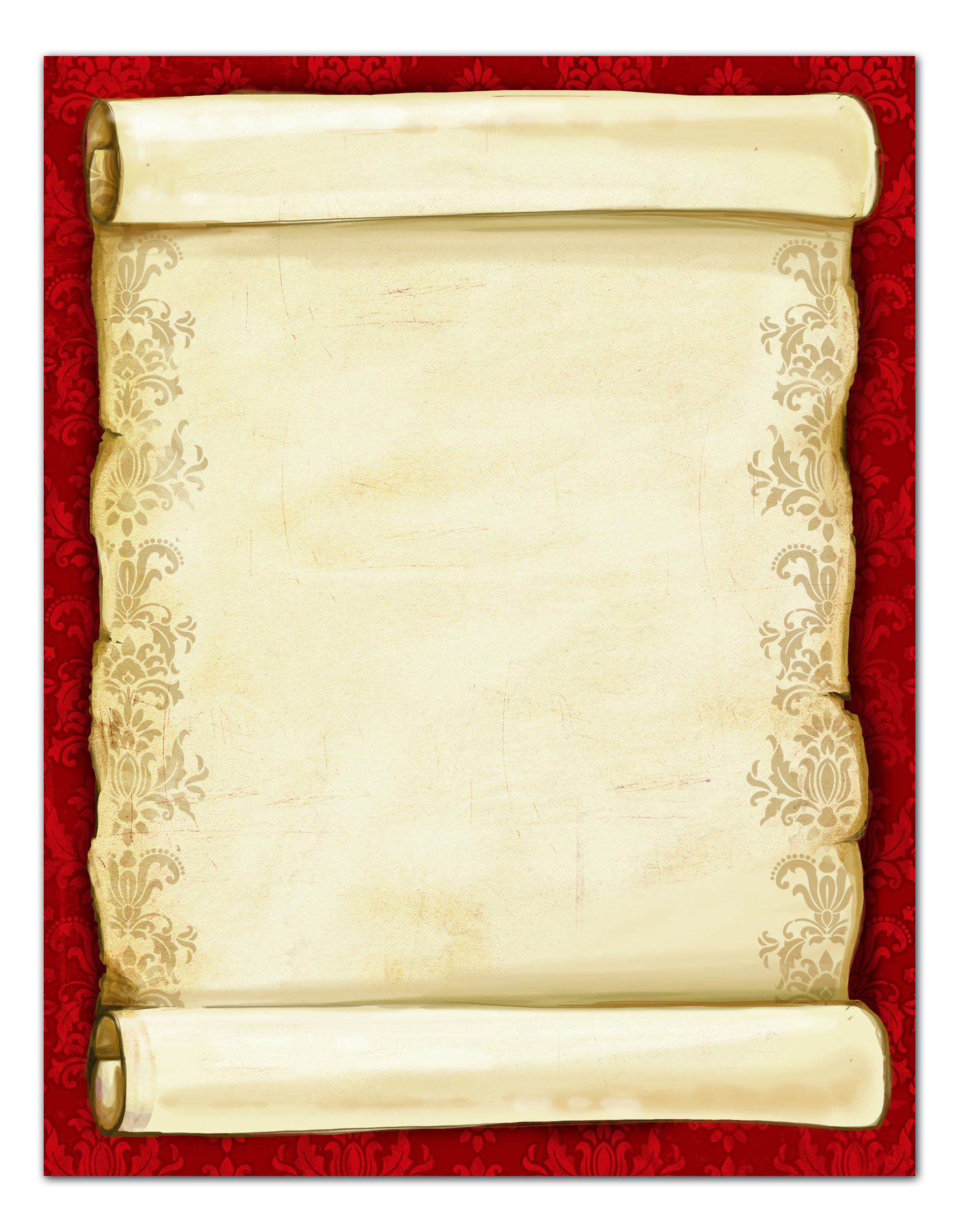"Great Papers!® Holiday Stationery, 8 1/2"" x 11"", Christmas Scroll, Pack Of 80 Sheets"