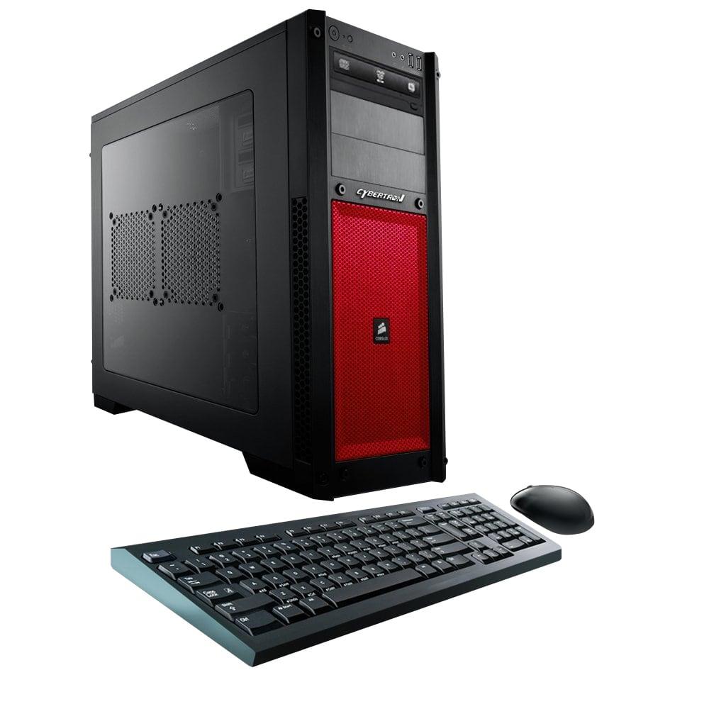 CybertronPC Steel B-1080X Desktop PC, Intel® Core™ i7, 16GB Memory, 2TB Hard Drive/240GB Solid State Drive, Windows® 10, Red, GeForce GTX 1080