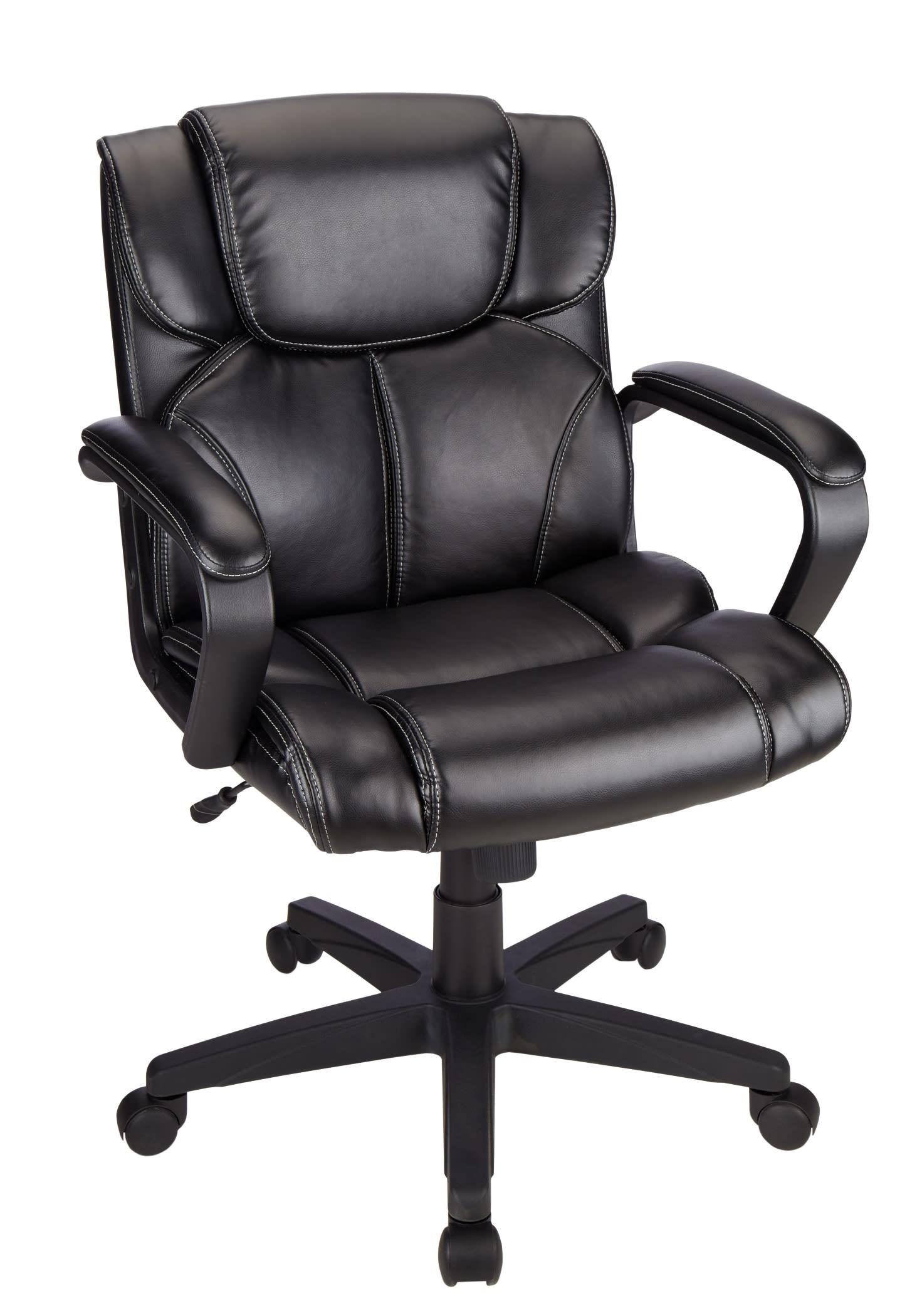 Brenton Studio® Briessa Mid-Back Chair, Black