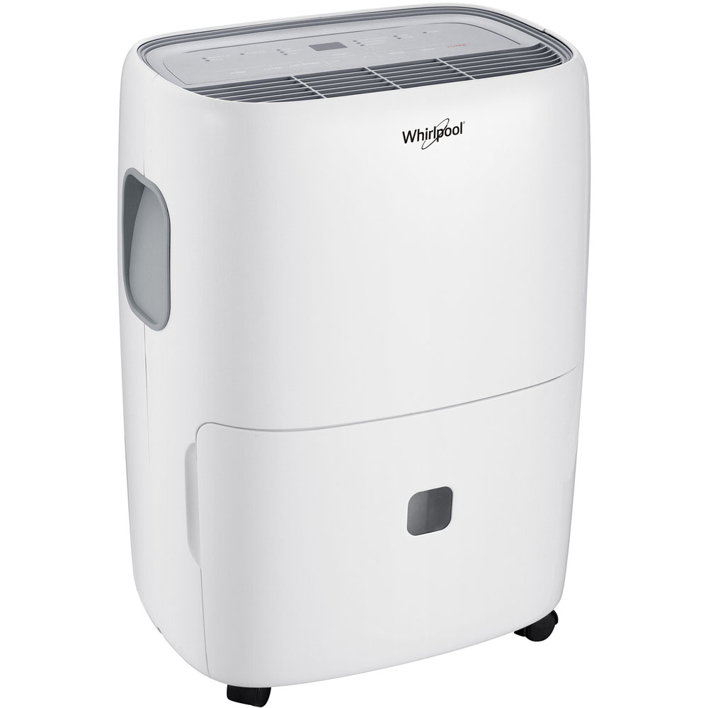 """Whirlpool Energy Star Dehumidifier With Built-In Pump, 70 Pints, 25 1/4""""H x 15 1/16""""W x 12 1/16""""D"""