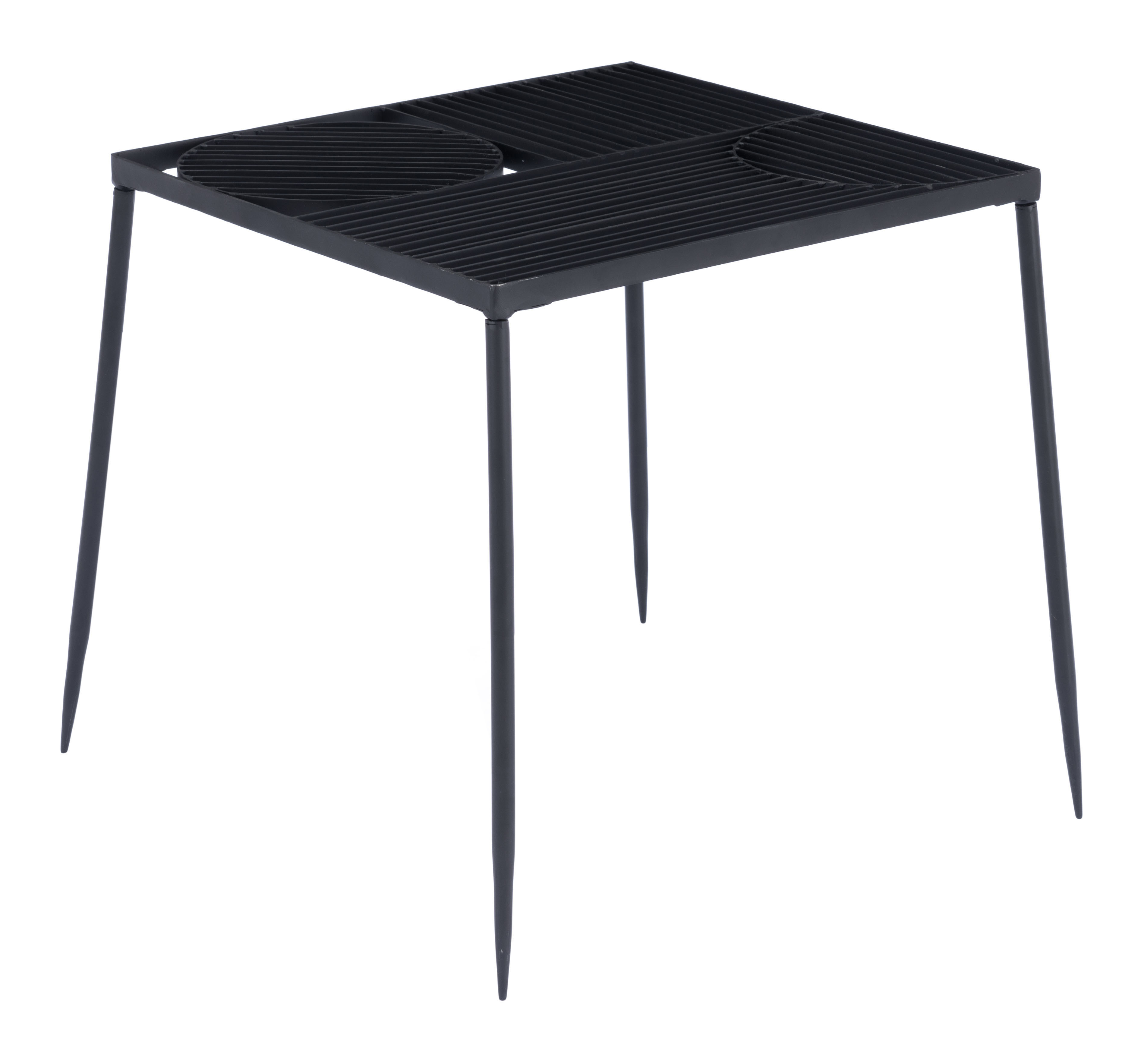 Zuo Modern Arti End Table, Square, Black