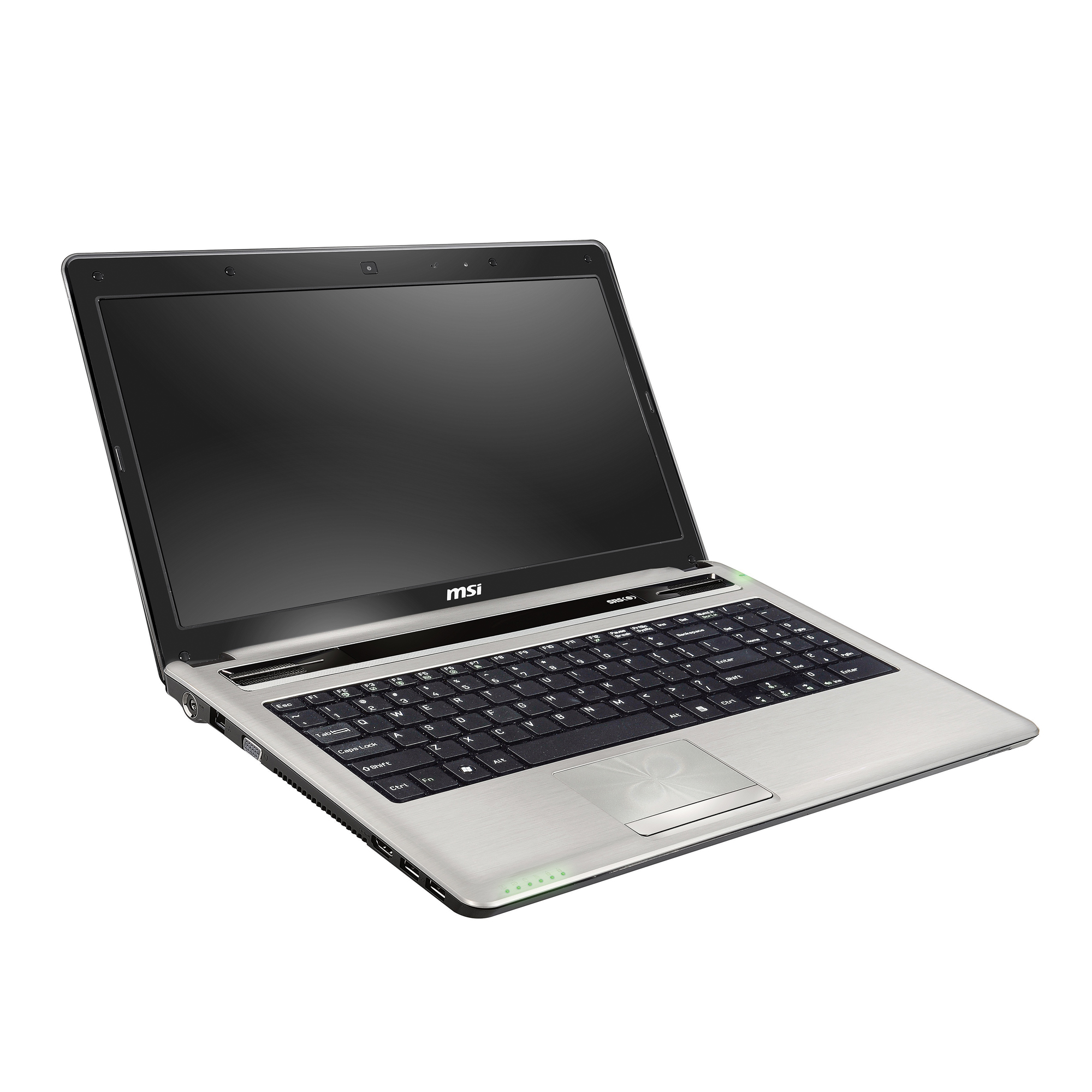 """MSI™ A6400-042US Laptop Computer With 15.6"""" LCD Screen & Intel® Core™ i5-2410M Processor With Turbo Boost Technology, Silver"""