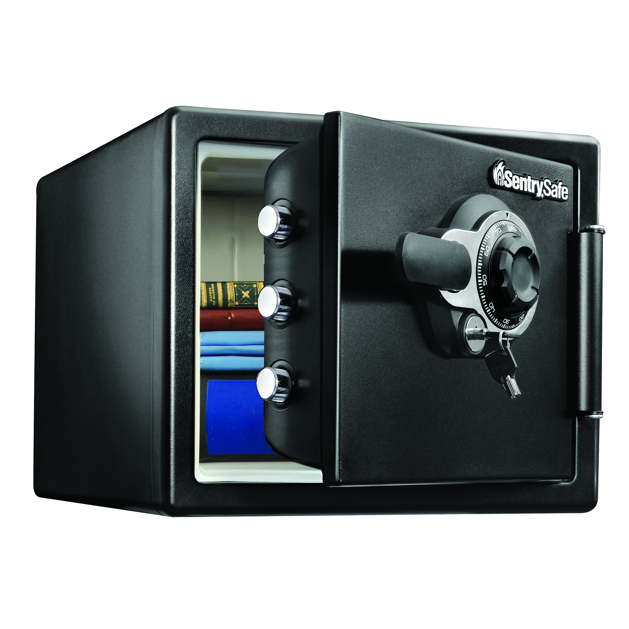 Sentry®Safe Fire-Safe® Combination Safe, 0.8-Cubic-Foot Capacity, Black