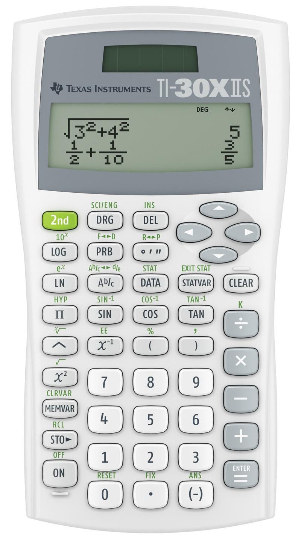 Texas Instruments® TI-30XIIS Handheld Scientific Calculator, 30XIIS/TBL/1L1/BE