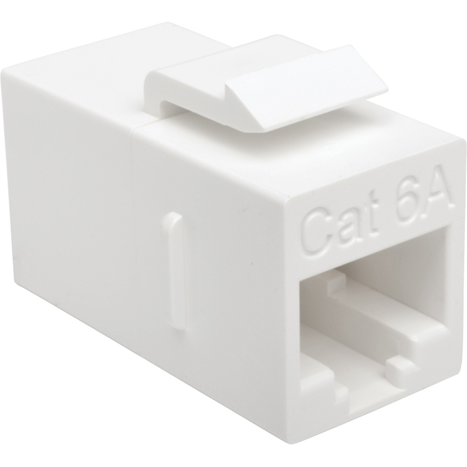 Tripp Lite Cat6a Straight-Through Modular In-Line Snap-In Coupler (RJ45 F/F) - 1 x RJ-45 Female Network - 1 x RJ-45 Female Network - White