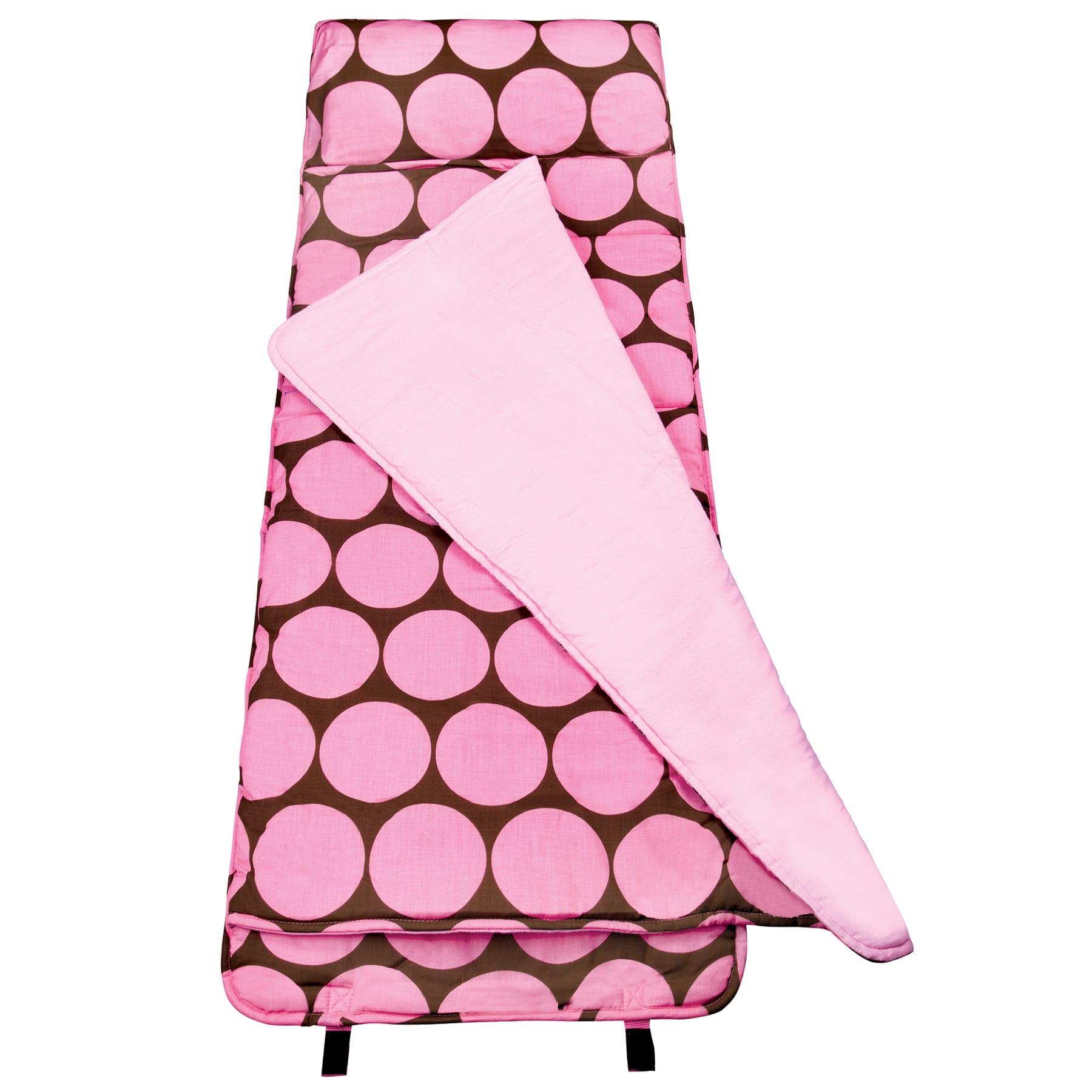 """Wildkin Nap Mat, Big Dot, 50""""H x 20""""W x 1 1/2""""D, Pink"""