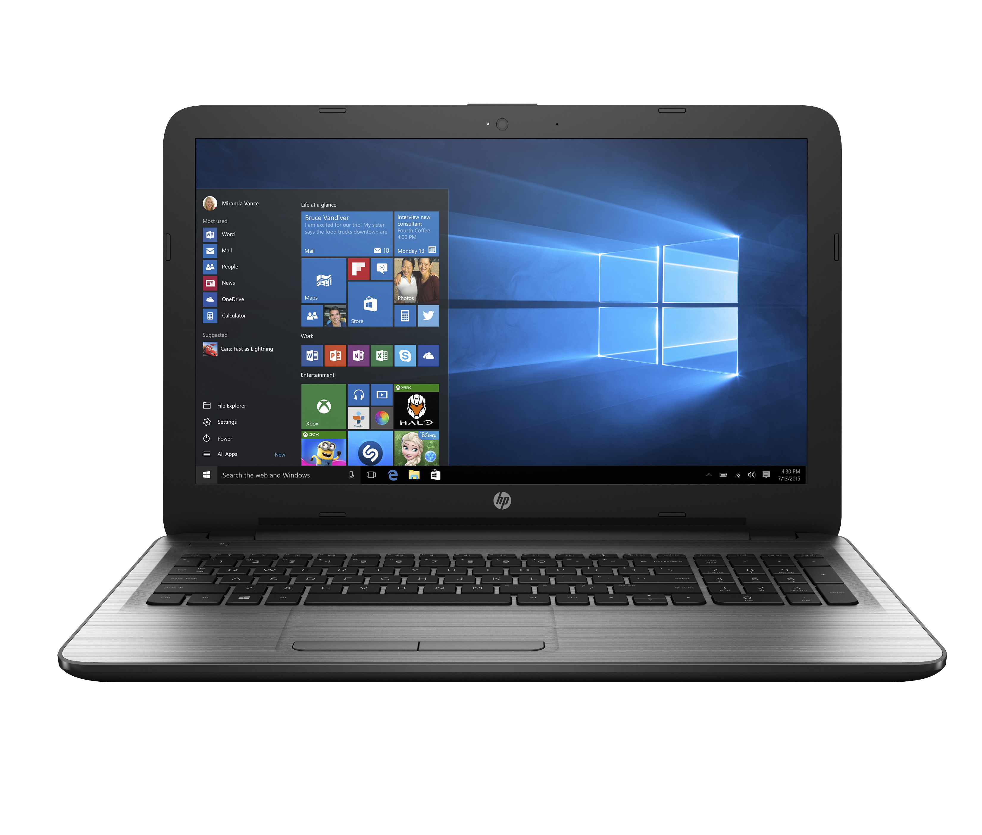 "HP 15-ay052nr Laptop, 15.6"" Screen, 6th Gen Intel® Core™ i3, 4GB Memory, 1TB Hard Drive, Windows® 10 Home"