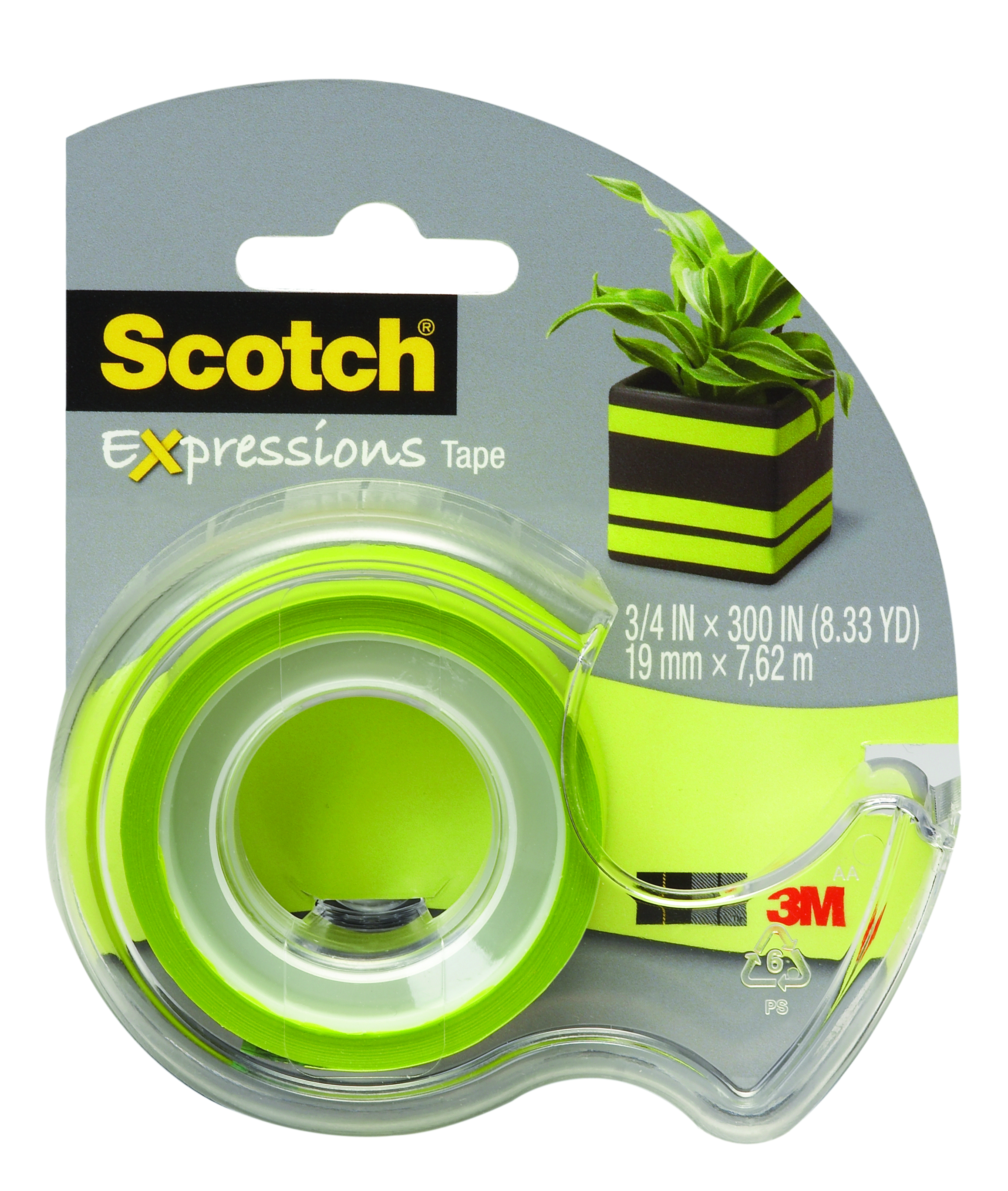 "Scotch® Expressions Tape, 3/4"" x 300"", Green"