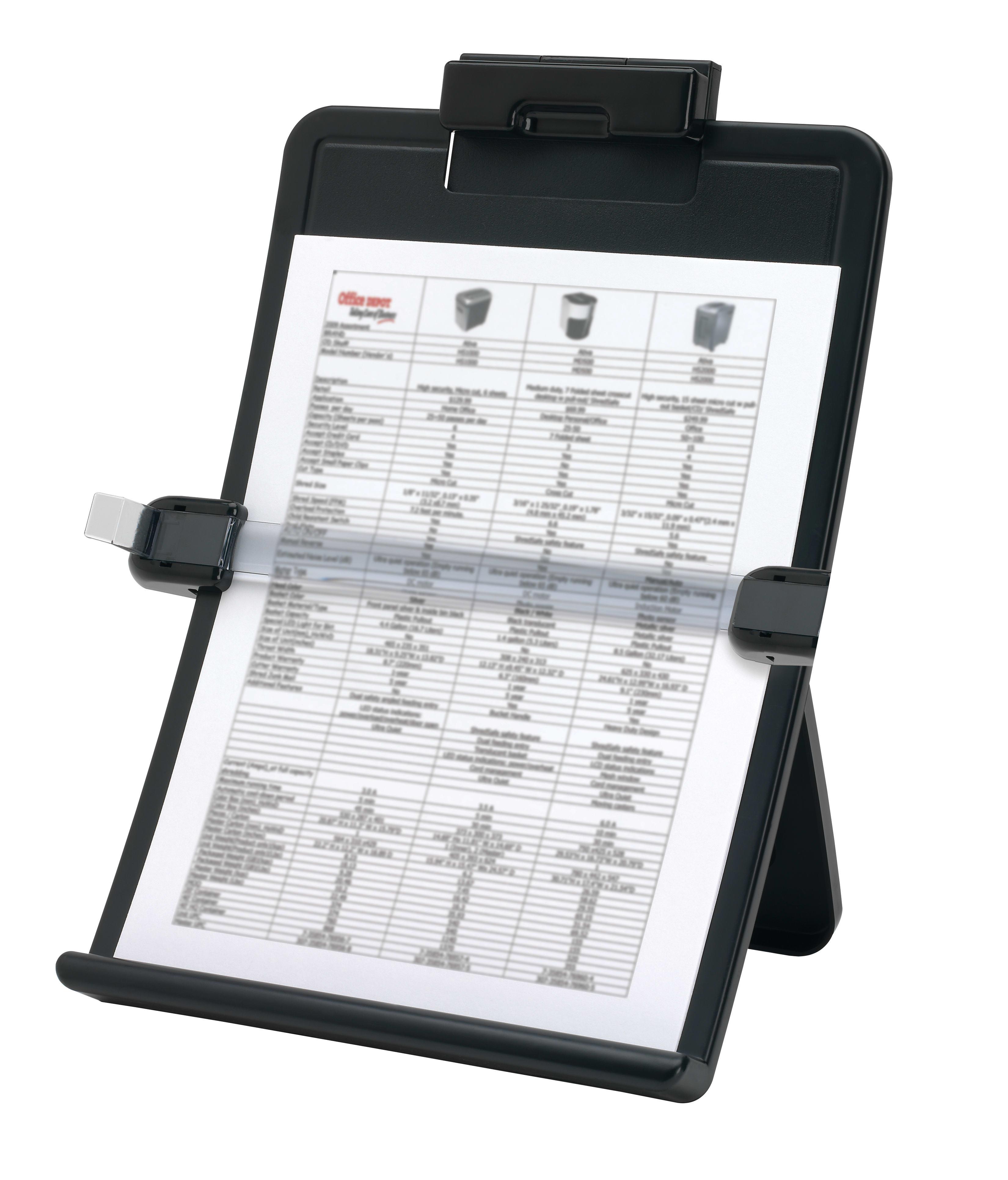 Office Depot® Brand Basic Copy Holder, Letter/Legal, Vertical/Horizontal, Black