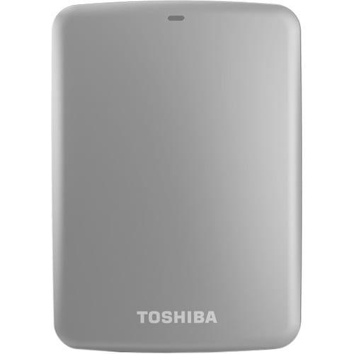Toshiba Canvio® Connect 1TB Portable External Hard Drive, 8MB Cache, Silver