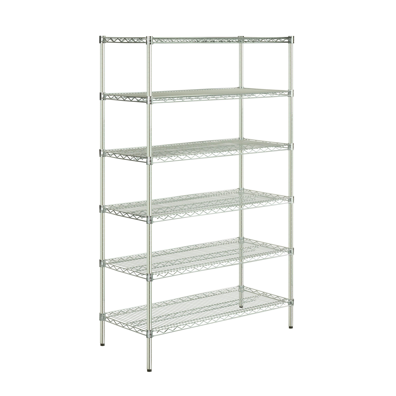 Honey-Can-Do NSF Steel Adjustable Storage Shelving Unit, Chrome