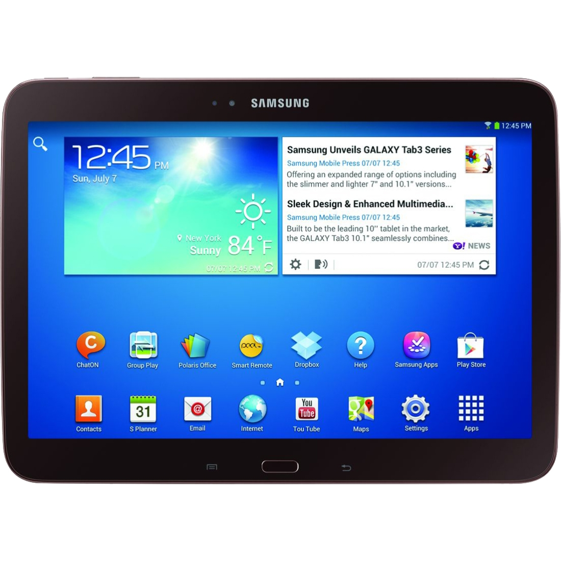 """Samsung Galaxy Tab 3 GT-P5210GNYXAR Tablet - 10.1"""" - 1 GB Dual-core (2 Core) 1.60 GHz - 16 GB - Android 4.2 Jelly Bean - 1280 x 800 - Golden Brown"""