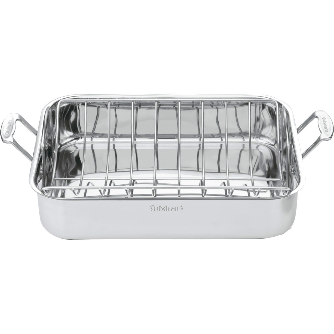 "Cuisinart 16"" Roasting Pan with Rack - Roaster Pan, Roasting Rack - Stainless Steel - Dishwasher Safe - Oven Safe"
