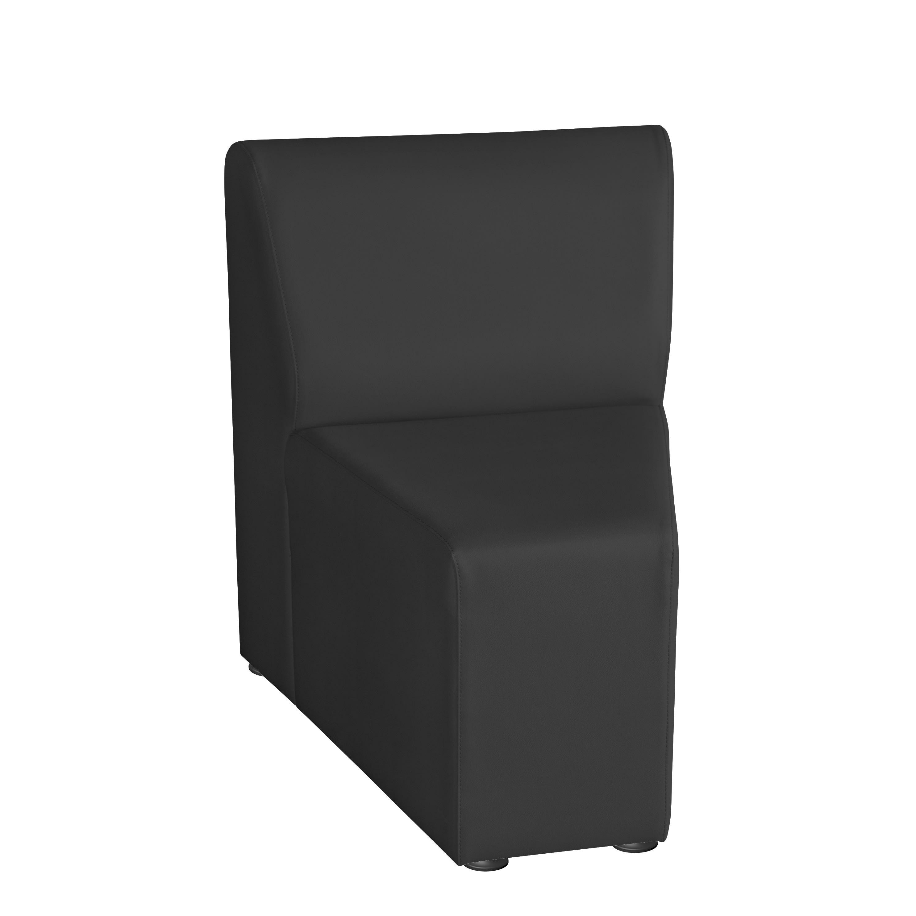 "Marco Inner Wedge Chair, 31.5"" x 24.5"", Black"