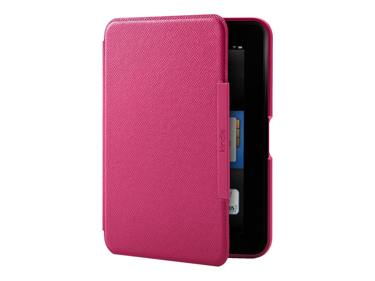 "Amazon Carrying Case (Portfolio) for 7"" Tablet PC - Fuchsia - Leather - Textured - 5.6"" Height x 7.8"" Width x 0.6"" Depth"