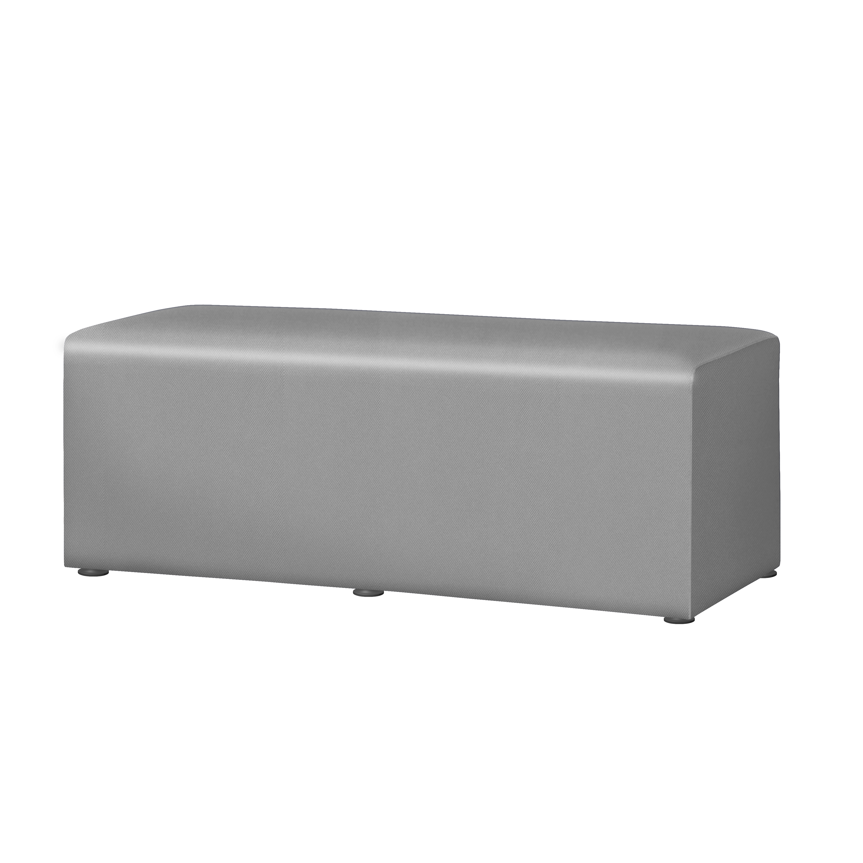 "Marco Rectangle Bench, 18""H, Dove"