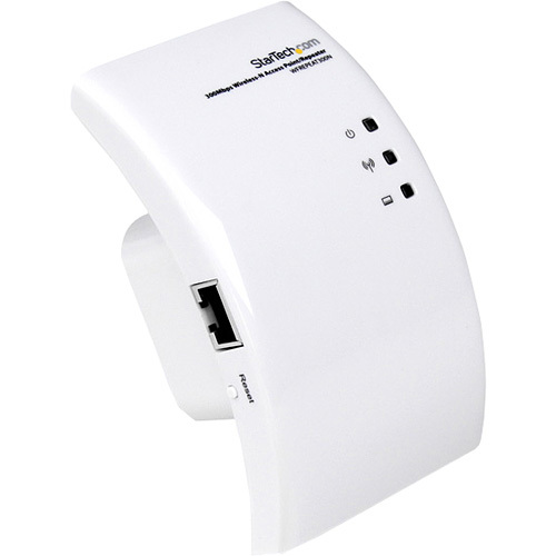 StarTech.com Wi-Fi Wireless Range Extender - 300 Mbps 802.11 b/g/n Access Point / Repeater / Signal Booster - IEEE 802.11n 300Mbps - 1 Pack