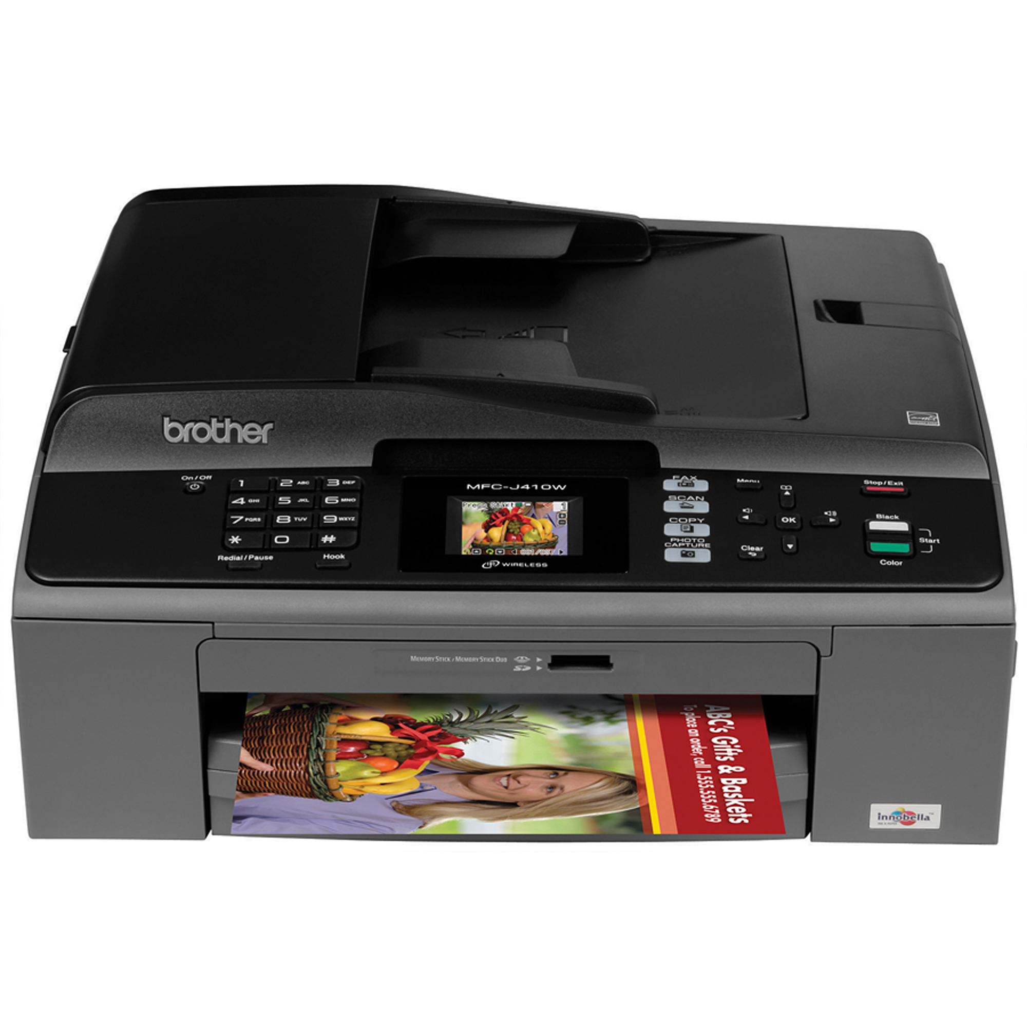 Brother® MFC-J410w Wireless Inkjet All-In-One Printer, Copier, Scanner, Fax