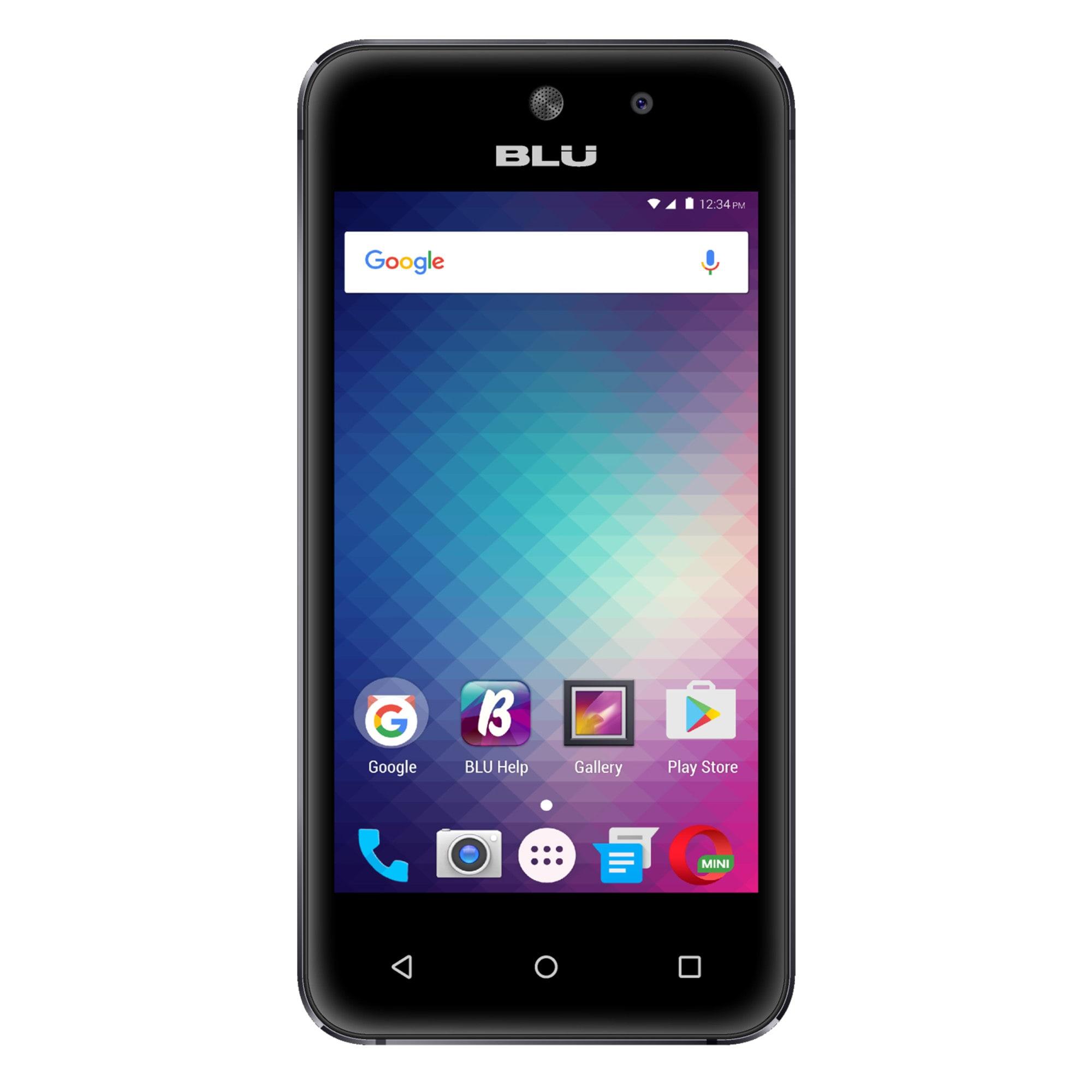 BLU Vivo 5 Mini V050Q Dual-SIM Cell Phone, Black, PBN201316